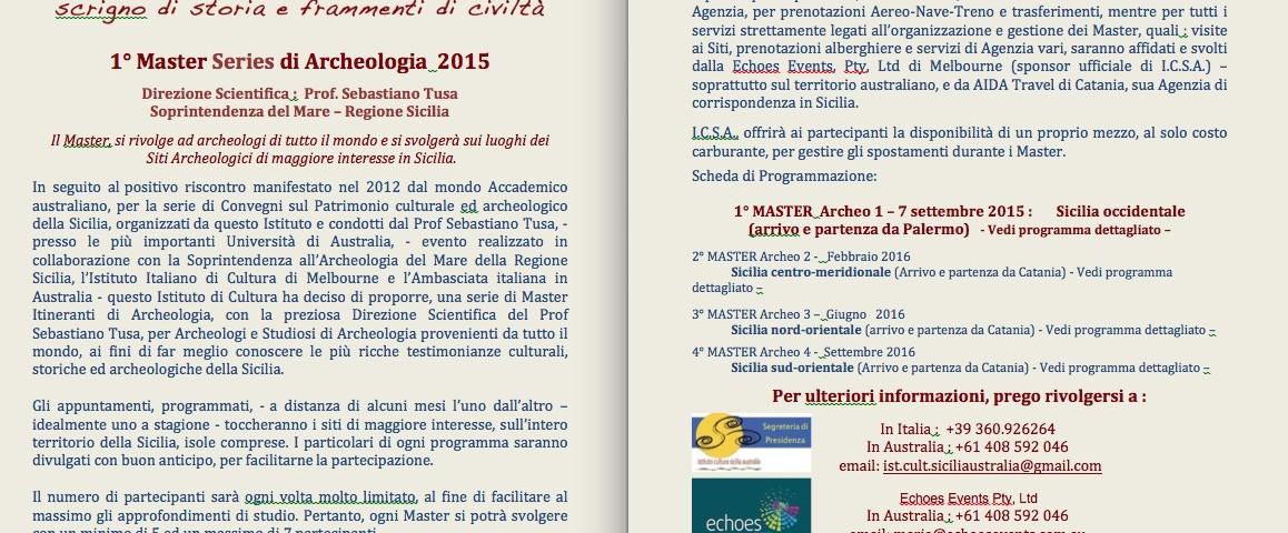 Locandina Master Arkeo 2015